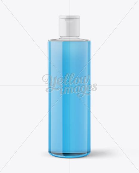 — clear plastic bottle mockup. Clear Plastic Bottle With Transparent Liquid Mockup in ...