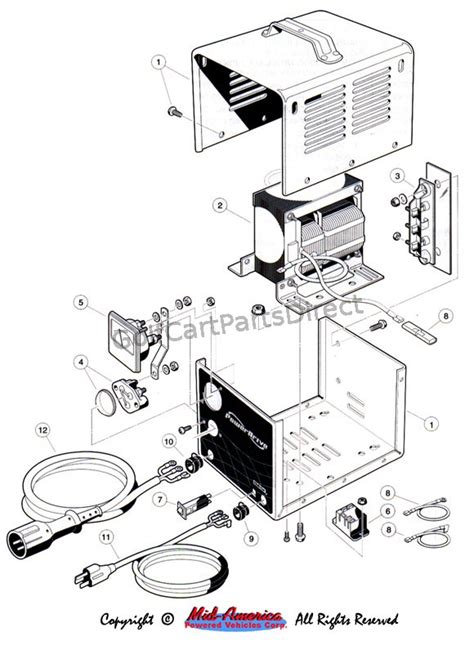 Wiring Diagram For Club Car Charger by 1992 1996 Club Car Ds Gas Or Electric Golfcartpartsdirect