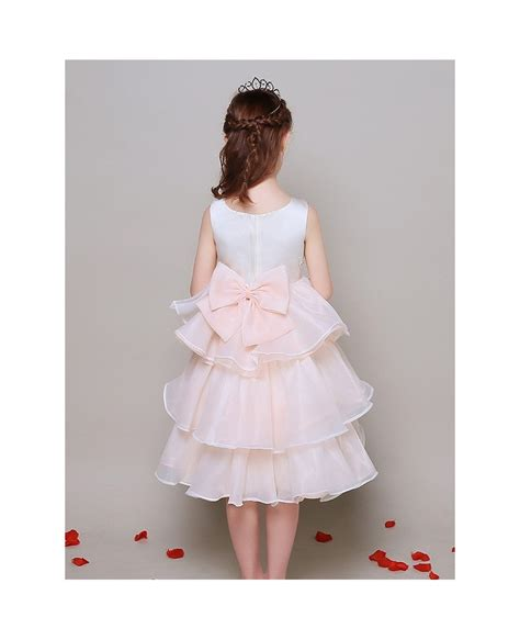 A Line Short Chiffon Layers Lace Beaded Pageant Dress For ...