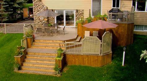 idee de patio en bois patio plus plan de patio