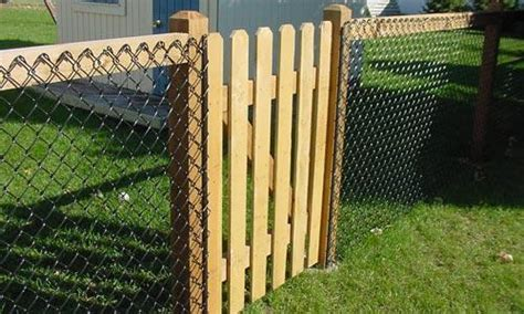 alternative to wooden fencing vinyl chain link fences