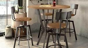 Bar Style Industriel : tabouret de cuisine de style industriel amisco architect ~ Teatrodelosmanantiales.com Idées de Décoration