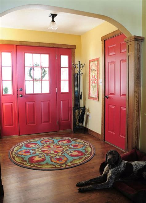 Interior Door Rugs by Baby Bump Update Wood Trim Entry Ways And Rugs