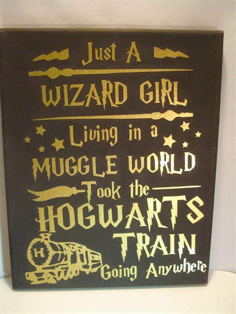 wizard girl harry potter wall art college room