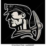 Coal Miner Miners Hard Hat Vector Drawings