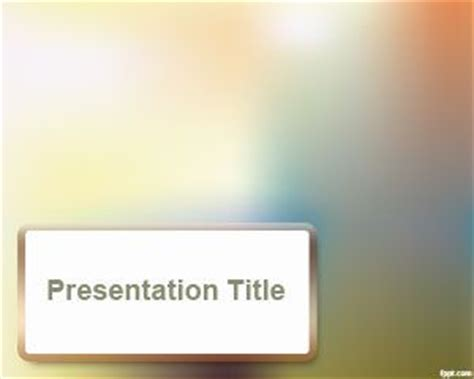 blur effect powerpoint template  template
