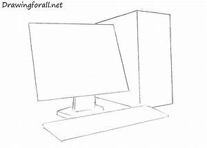 How to Draw a Computer | Drawingforall.net