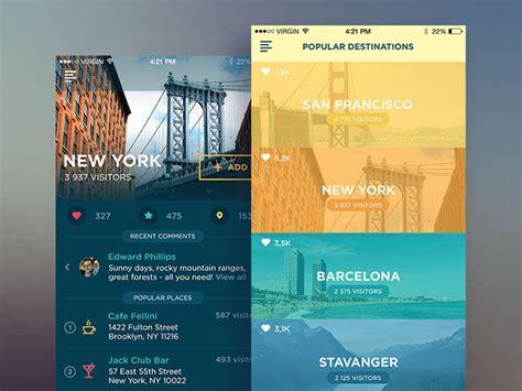 innovative mobile travel app ui design concepts web