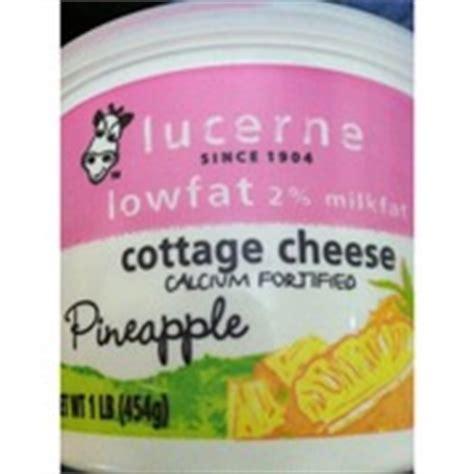 lucerne cottage cheese lucerne cottage cheese lowfat 2 milkfat pineapple