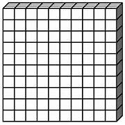 Base Ten Blocks Clip A...Ten Clipart Black And White
