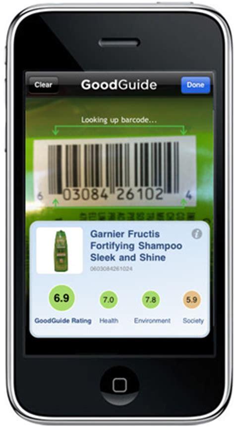 barcode app iphone goodguide iphone barcode scanner jorymon