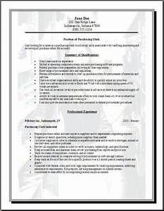 purchasing resume occupationalexamplessamples free edit With purchase resume format