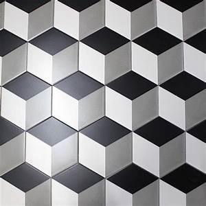 Carrelage Hexagonal Blanc : carrelage imitation ciment noir et blanc hexagonal cim ~ Premium-room.com Idées de Décoration