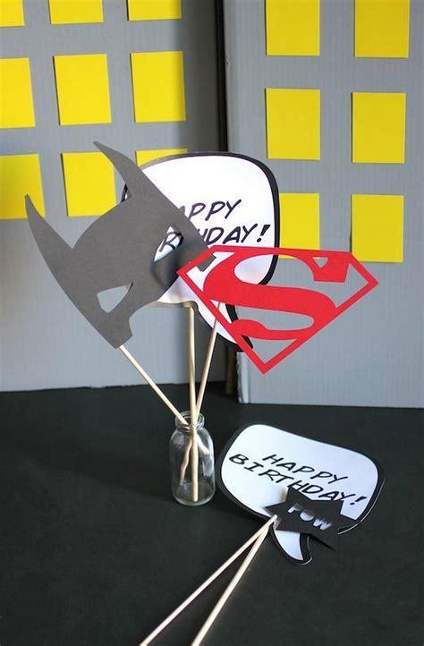 comic book party diy photo op props evite