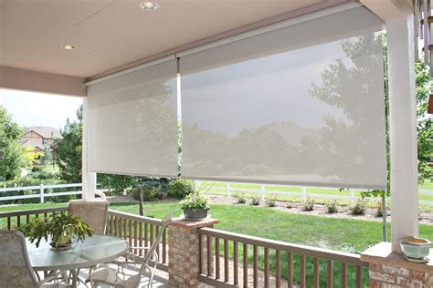 exterior patio shades enhance your summer with exterior screen shades