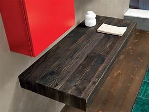 Plan Vasque Bois Brut : plan de toilette meuble sous vasque v70 by mobiltesino ~ Teatrodelosmanantiales.com Idées de Décoration