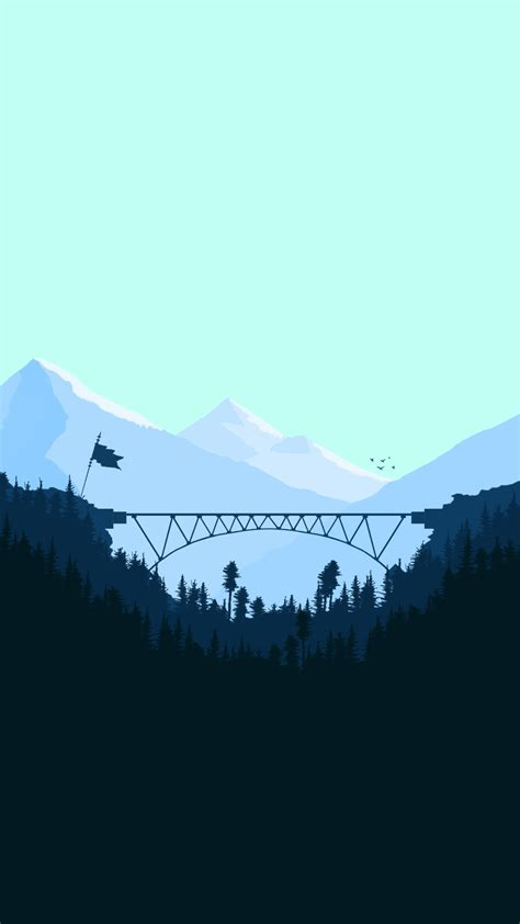 minimal bridge digital art iphone wallpaper iphone