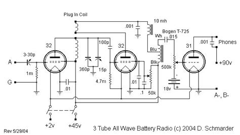 Dave Tube All Wave Receiver Schematic Radio