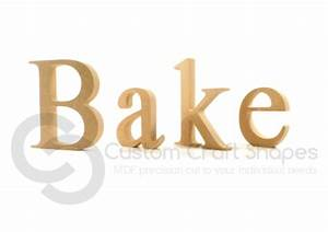 mdf bake individual freestanding letters times new roman With bake letters