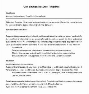 combination resume template 6 free samples examples With combination resume template
