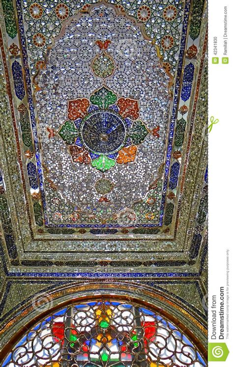 crystal  stained glass ceiling   persian house