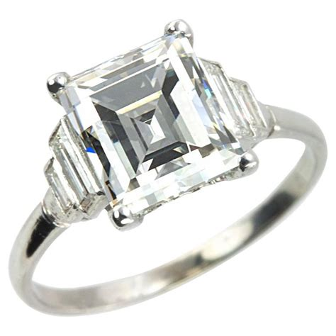 deco 2 90 carat emerald cut engagement ring for sale at 1stdibs