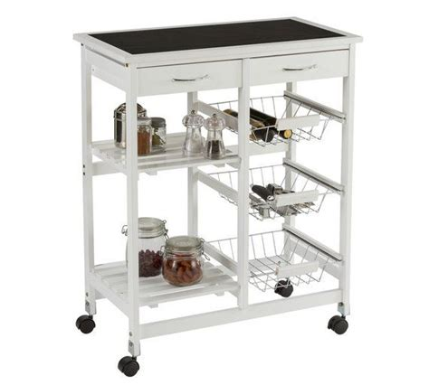 Kitchen Furniture Argos by Buy Collection Kitchen Trolley With Slate Effect Glass Top