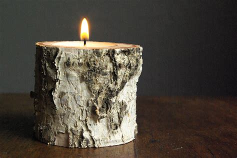 wood lights candles 8 easy diy wood candle holders for some rustic warmth this