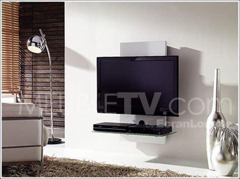 support mural tv en bois