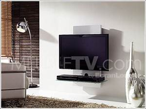 Etagere Murale Pour Tv : meuble tv mural ~ Teatrodelosmanantiales.com Idées de Décoration