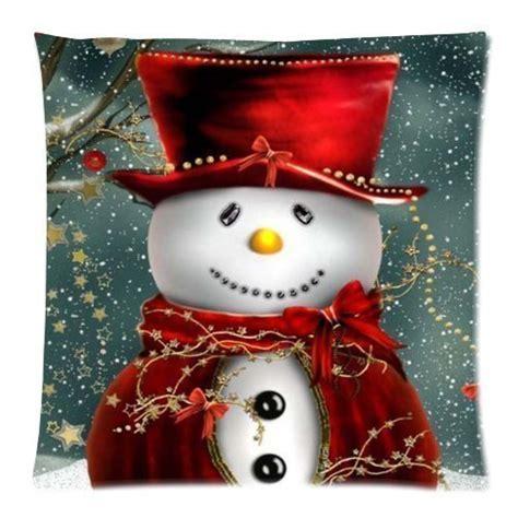 amazoncom snowman christmas snowman custom zippered square cushion cover
