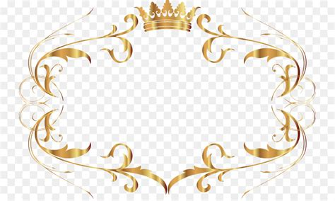 Beautiful Gold Pattern Frame Png Download