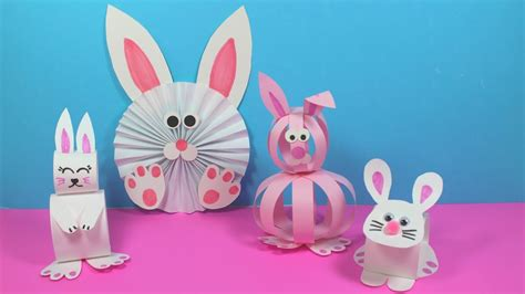 easy paper bunny craft ideas paper crafts  kids youtube