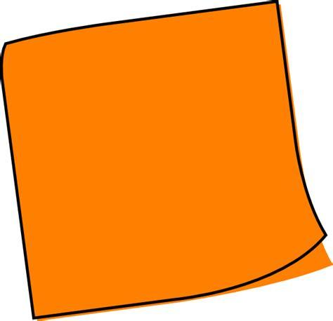Orange clipart sticky note, Orange sticky note Transparent ...