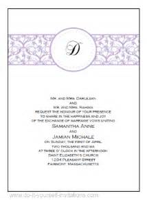 free wedding invitation template free printable wedding invitations templates