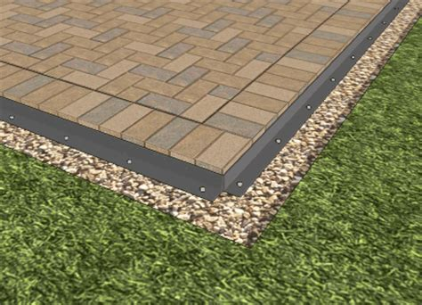 patio paver edging how to install a paver patio step by step