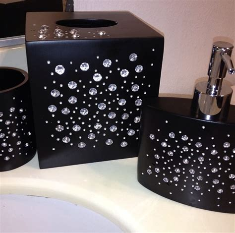 Mirror Rhinestone Bathroom Accessories by 17 Best Images About Bling Bathroom Ideas On