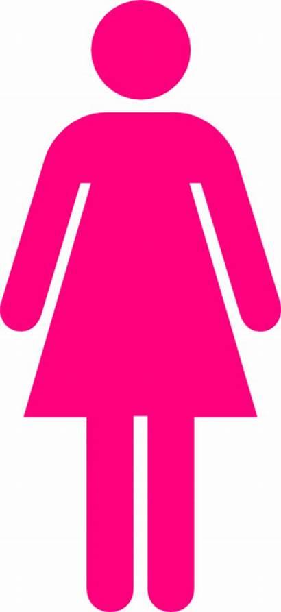 Symbol Clip Woman Clipart Toilet Bathroom Pink