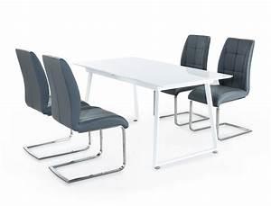 Esstisch Stühle Weiß : tischgruppe esstisch armin wei hochglanz 4 st hle gemma ~ Michelbontemps.com Haus und Dekorationen