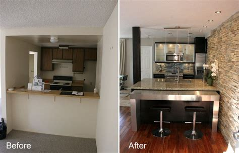 Kitchen Renovation Ideas by Condo Kitchen Renovation Before And After For The Home