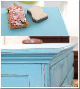 How To Paint Cabinets To Look Distressed by Before And After Furniture Makeover In Turquoise In My