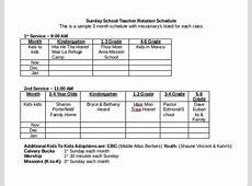 17 Rotation Schedule Templates to Download Sample Templates