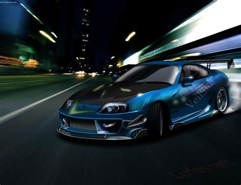 Dashing Blue Toyota Supra Hd Wallpaper