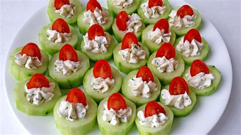 canape toppings cucumber bites appetizers valya 39 s taste of home