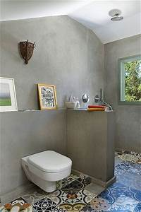 Carreaux De Ciment Salle De Bain : salle de bain sous pente et sous combles la d co craquante ~ Melissatoandfro.com Idées de Décoration