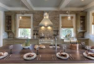 Kitchen With Brick Backsplash Brick Kitchen Backsplash Cottage Kitchen Herlong Associates