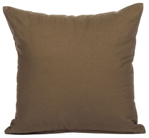 Contemporary Decorative Pillows by Solid Brown Accent Throw Pillow Cover Contemporary