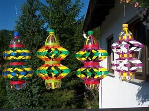 windspiel handarbeit plastikflasche geschenk idee in With französischer balkon mit windrad für den garten
