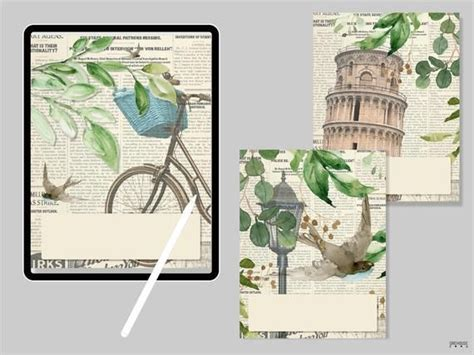 notepad cover set   digital planner cover  ipad
