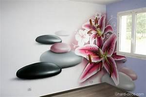 deco murale chambre design chambre zen fleur de lys et With chambre bébé design avec fleur artificielle deco pas cher